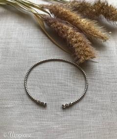 Jonc Luna en argent. Bracelet, idée cadeau. Bijou à offrir.