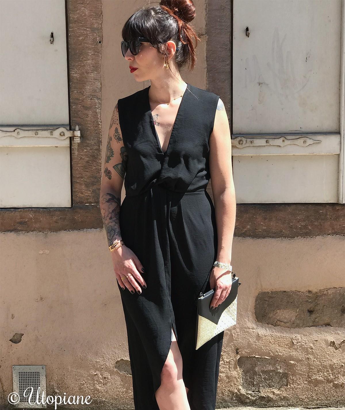 Robe Gaïa noire