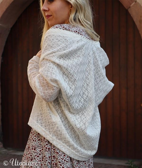 Gilet femme 100% coton, fabrication française