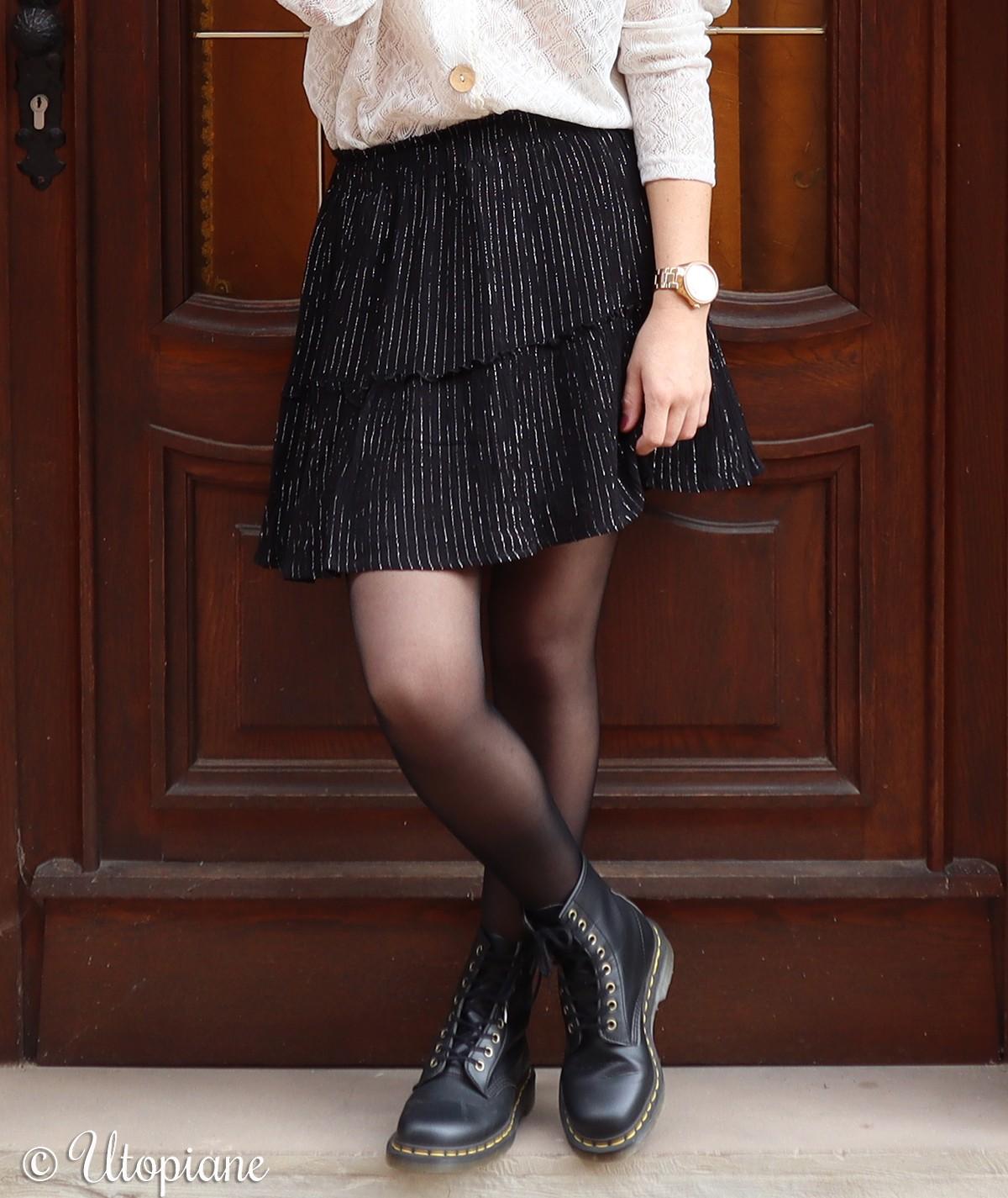 Jupe courte noire Héra