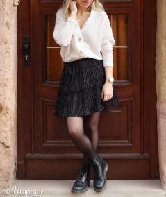 Gilet femme porté pull 100% coton, fabrication française