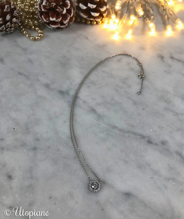 Collier Eugène en argent, longueur réglable, parfait pour un cadeau