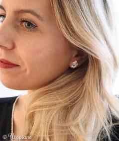 Boucles d'oreilles plaqué or Marguerite