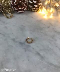 Bijou d'oreille clip faux piercing Gaspard - Plaqué Or