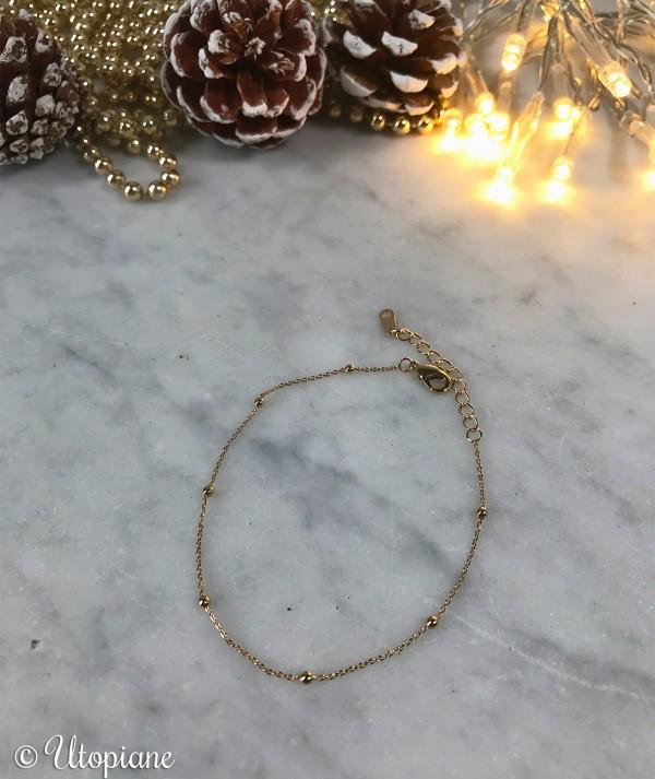 Bracelet fin Octave doré plaqué or