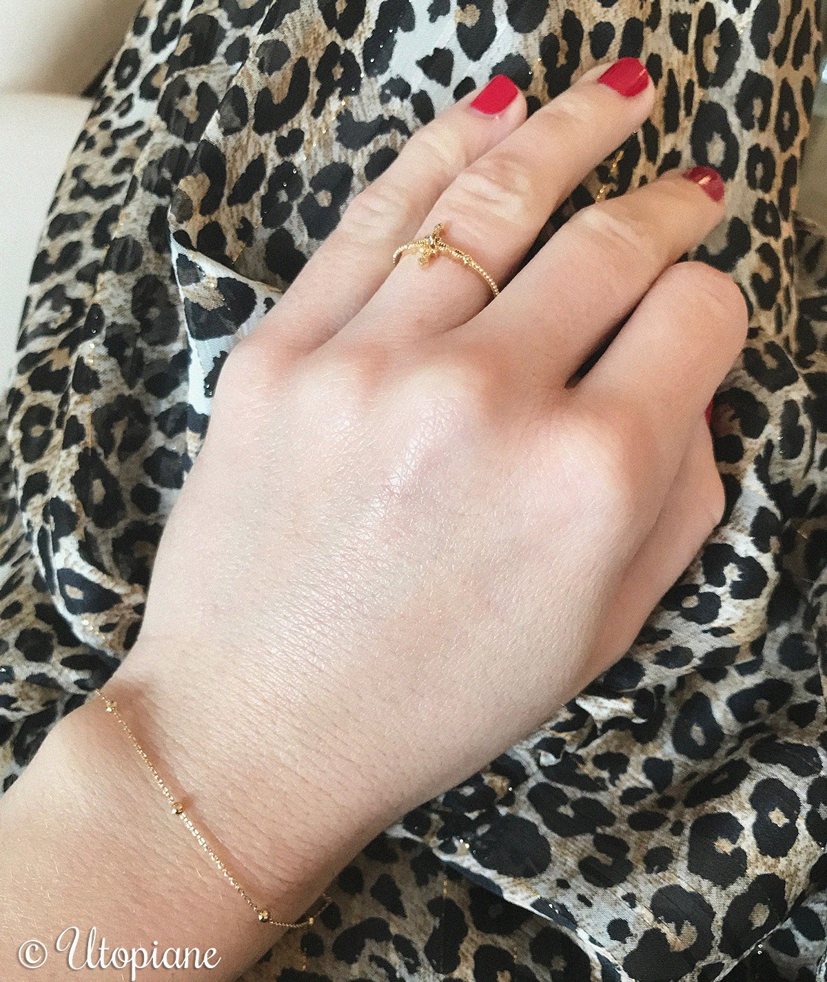 Bague Éléonore plaqué or - idée cadeau
