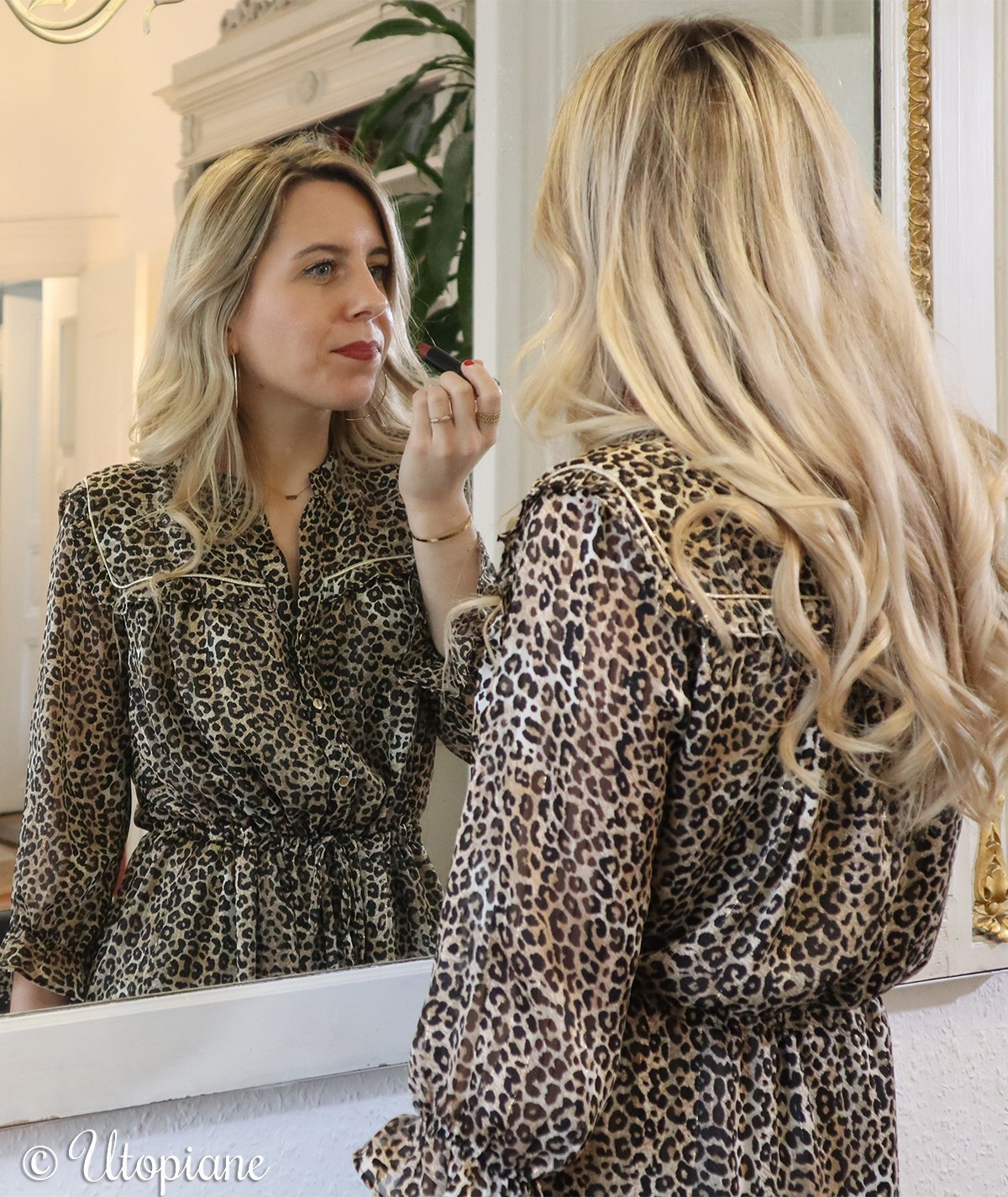 Robe longue imprimé léopard Roxane