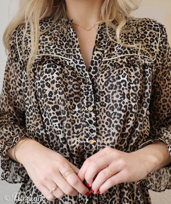 Robe Roxane imprimé léopard
