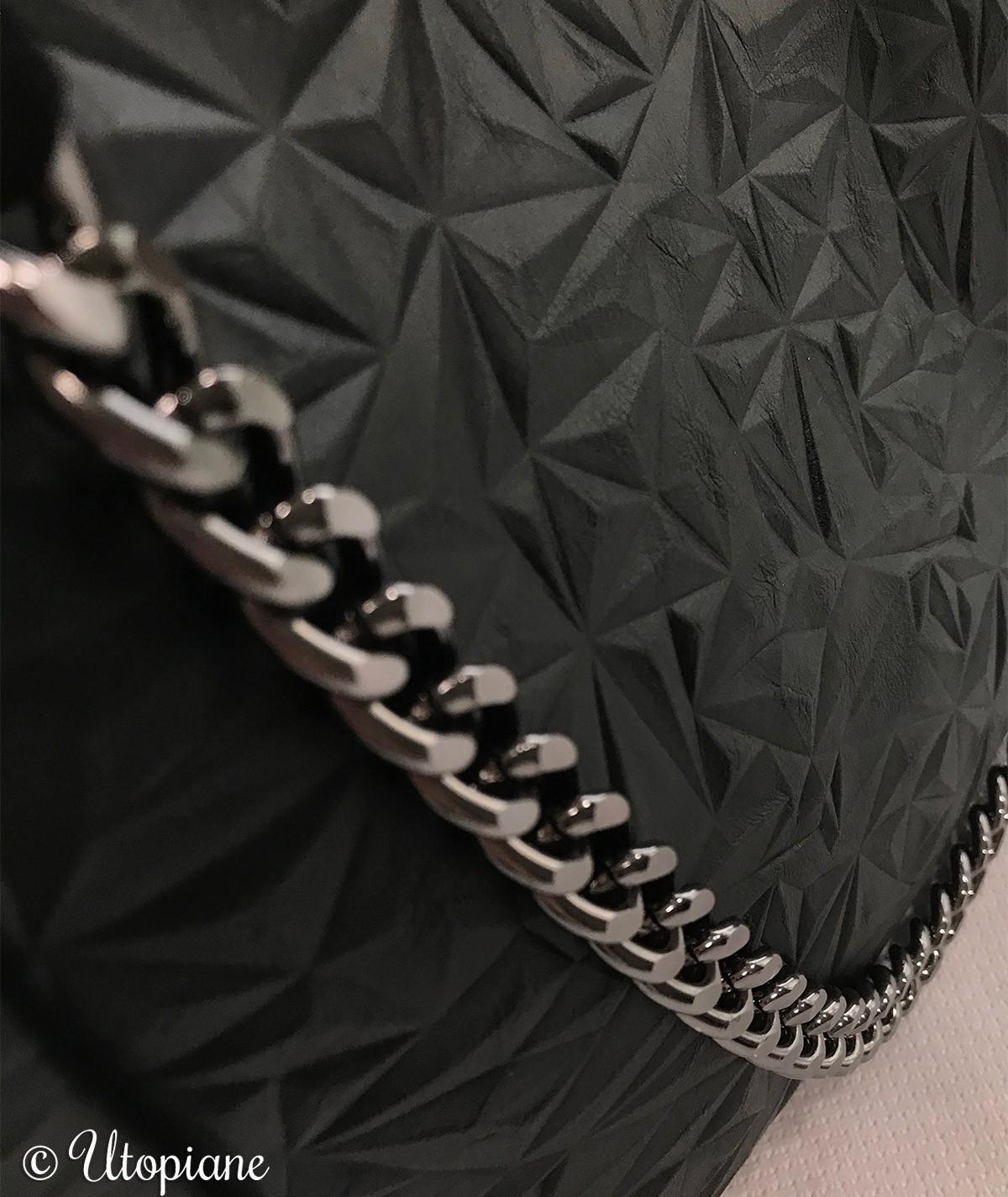 Sac Basile - chaîne argentée simili cuir