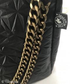 Sac Basile noir - chaîne dorée