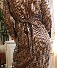 Robe mi-longue vegan en polyester