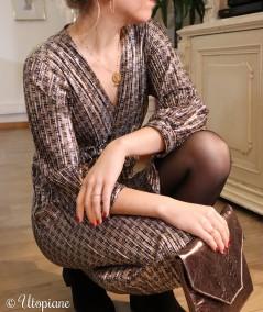 Robe Viviane en polyester, soyez sublime pour les fêtes