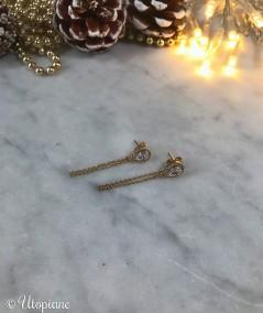 Boucles d'oreilles en plaqué or pendantes