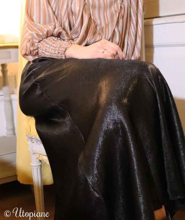 Jupe longue noire Timéo en polyester, tenue de fêtes