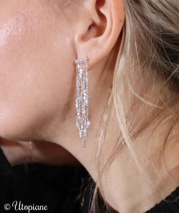 Boucles d'oreilles Victoire en argent garanti. Sublimes pour les fêtes ou un événement