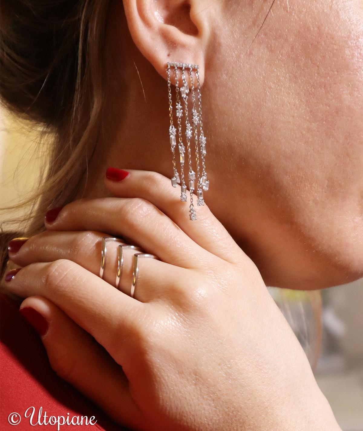 Boucles d'oreilles Victoire en argent garanti