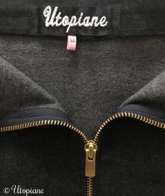 Jupe en jean noire femme fabrication artisanale et alsacienne par une couturière passionnée