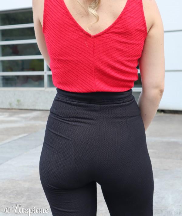 Pantalon noir femme Dànes inspiration patte d'éléphant