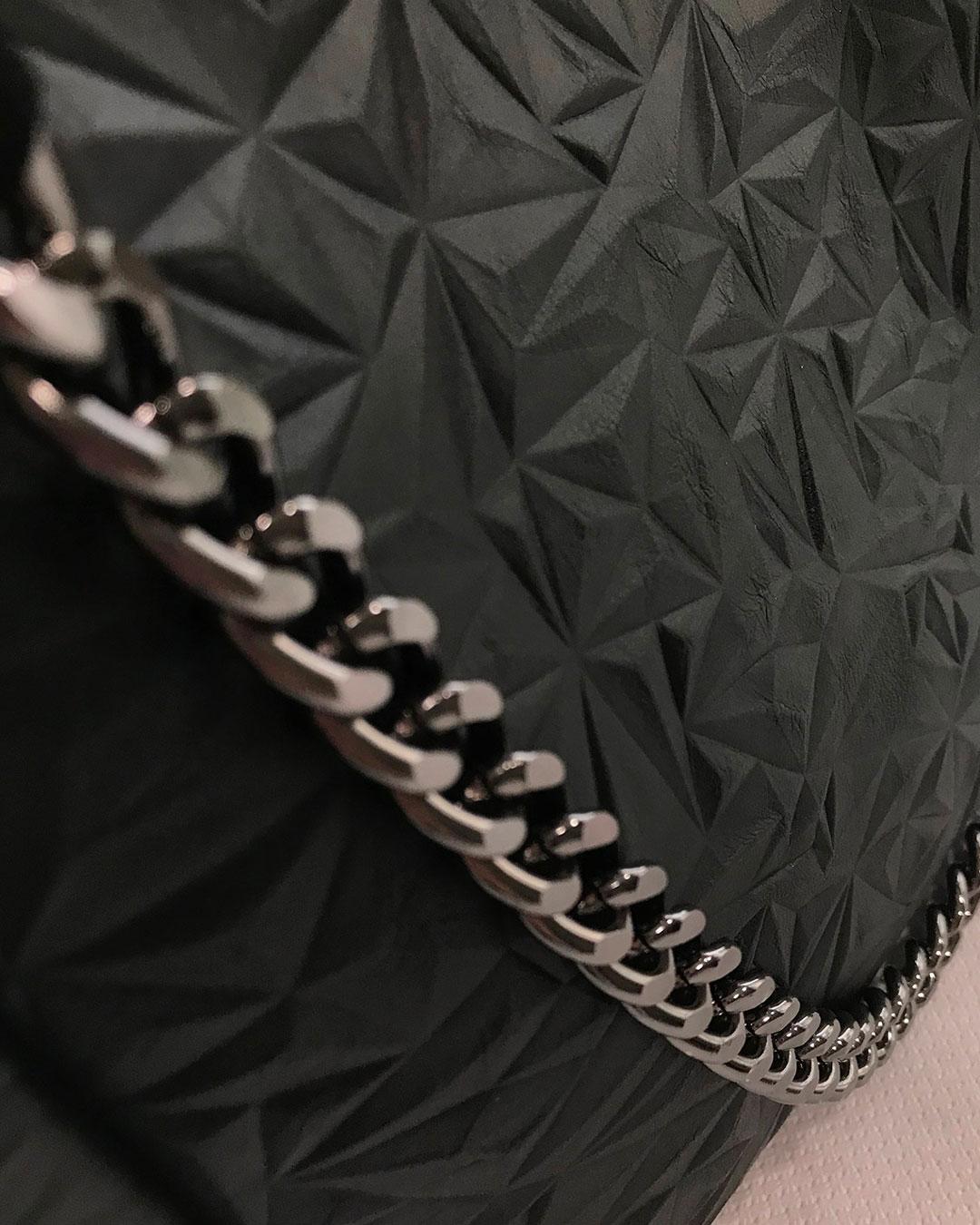 Sac à main en simili cuir noir pour femme, avec une chaîne dorée ou argentée, créé pour vous